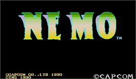 Title screen of Nemo on the Arcade.