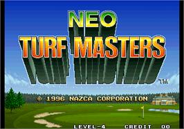 Title screen of Neo Turf Masters / Big Tournament Golf on the Arcade.