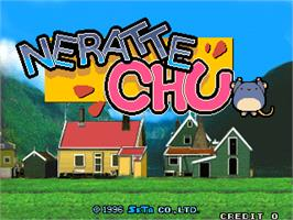 Title screen of Neratte Chu on the Arcade.