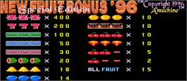 Title screen of New Fruit Bonus '96 Special Edition on the Arcade.