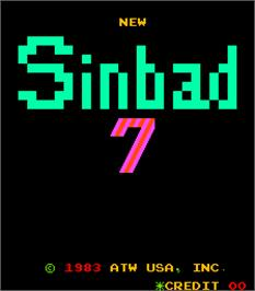Title screen of New Sinbad 7 on the Arcade.