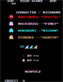 Title screen of Newpuc2 on the Arcade.