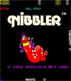 Title screen of Nibbler on the Arcade.