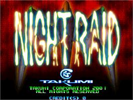 Title screen of Night Raid on the Arcade.