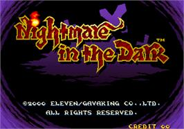 Title screen of Nightmare in the Dark on the Arcade.