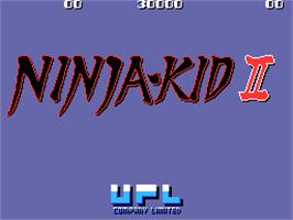 Title screen of Ninja-Kid II / NinjaKun Ashura no Shou on the Arcade.