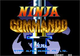 Title screen of Ninja Commando on the Arcade.