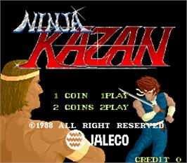 Title screen of Ninja Kazan on the Arcade.