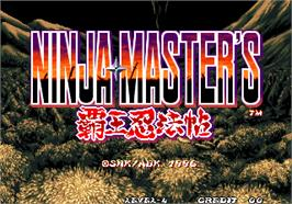 Title screen of Ninja Master's - haoh-ninpo-cho on the Arcade.