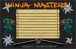 Title screen of Ninja Mission on the Arcade.