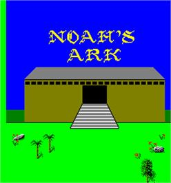 Title screen of Noah's Ark on the Arcade.