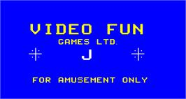 Title screen of Noraut Joker Poker on the Arcade.