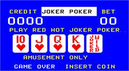 Title screen of Noraut Red Hot Joker Poker on the Arcade.