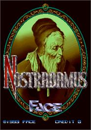 Title screen of Nostradamus on the Arcade.