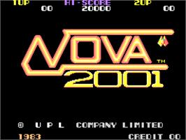 Title screen of Nova 2001 on the Arcade.