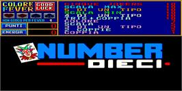 Title screen of Number Dieci on the Arcade.