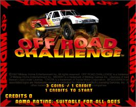 Title screen of Off Road Challenge on the Arcade.