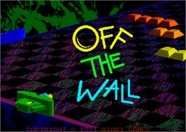 Title screen of Off the Wall on the Arcade.