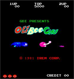Title screen of Oli-Boo-Chu on the Arcade.
