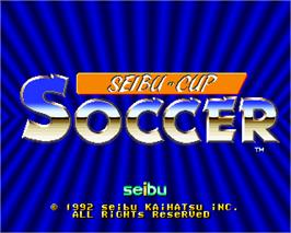 Title screen of Olympic Soccer '92 on the Arcade.
