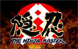 Title screen of Oni - The Ninja Master on the Arcade.