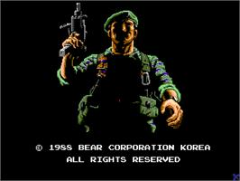 Title screen of Operation Bear on the Arcade.