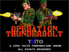 Title screen of Operation Thunderbolt on the Arcade.