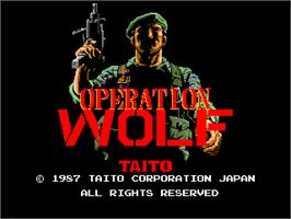 Title screen of Operation Wolf on the Arcade.