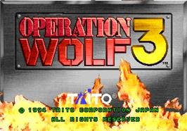 Title screen of Operation Wolf 3 on the Arcade.