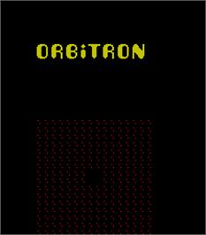 Title screen of Orbitron on the Arcade.