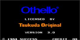 Title screen of Othello on the Arcade.
