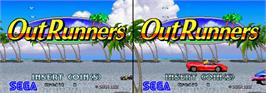 Title screen of OutRunners on the Arcade.