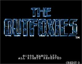 Title screen of Outfoxies on the Arcade.