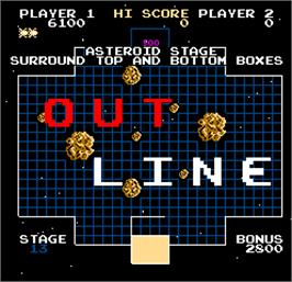 Title screen of Outline on the Arcade.