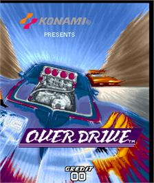 Title screen of Over Drive on the Arcade.