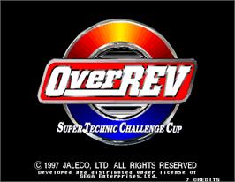 Title screen of Over Rev on the Arcade.