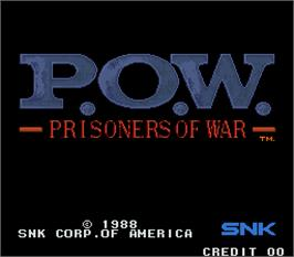 Title screen of P.O.W. - Prisoners of War on the Arcade.