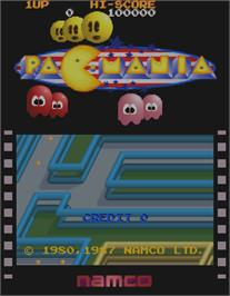 Title screen of Pac-Mania on the Arcade.