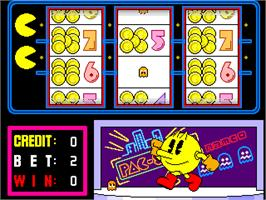 Title screen of Pac-Slot on the Arcade.