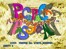 Title screen of Paca Paca Passion on the Arcade.