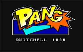 Title screen of Pang on the Arcade.