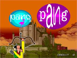 Title screen of Pang Pang on the Arcade.