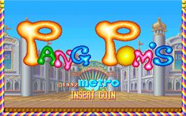 Title screen of Pang Pom's on the Arcade.
