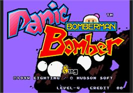 Title screen of Panic Bomber on the Arcade.