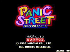 Title screen of Panic Street on the Arcade.