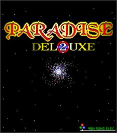 Title screen of Paradise 2 Deluxe on the Arcade.