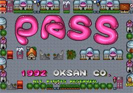 Title screen of Pass on the Arcade.