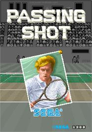 Title screen of Passing Shot on the Arcade.