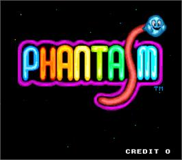 Title screen of Phantasm on the Arcade.