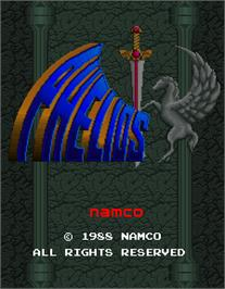 Title screen of Phelios on the Arcade.